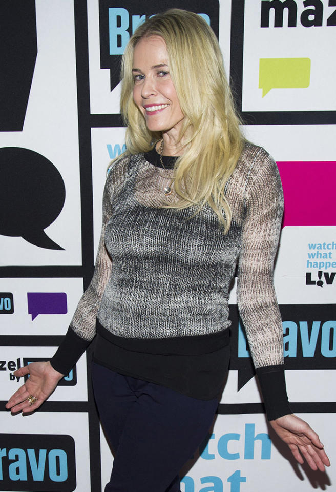 WATCH WHAT HAPPENS LIVE -- Pictured: Chelsea Handler -- Photo by: Charles Sykes/Bravo/NBCU Photo Bank via Getty Images