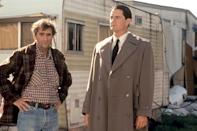 <p>A longtime friend and frequent collaborator of David Lynch's, Stanton joined the <em>Twin Peaks</em> weirdness in the 1992 feature film <em>Fire Walk With Me</em>, playing the manager of the Fat Trout Trailer Park, a role he recently reprised in Showtime's series revival.<br><br>(Photo: New Line Cinemas/courtesy Everett Collection) </p>