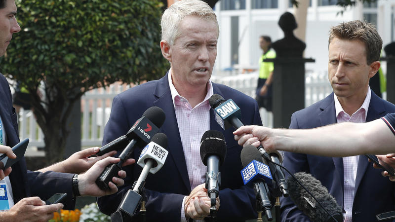 Craig Tiley, pictured here speaking to the media at the Australian Open.