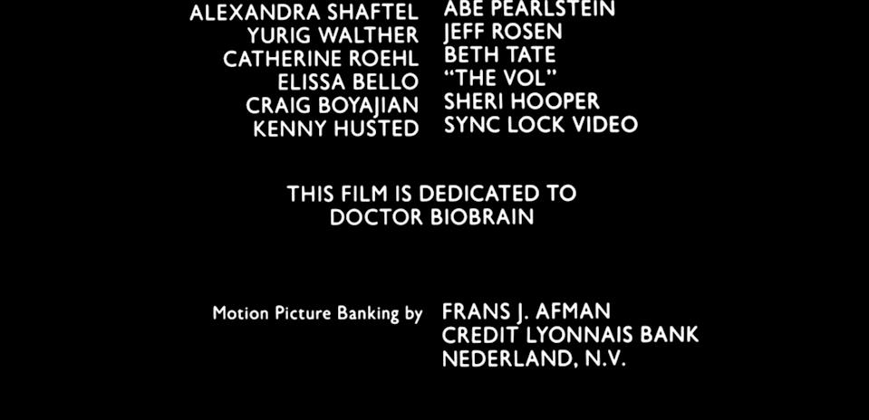 photo of miracle mile credits