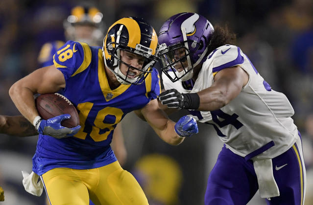 Los Angeles Rams wide receiver Cooper Kupp will miss the rest of the season. (AP)