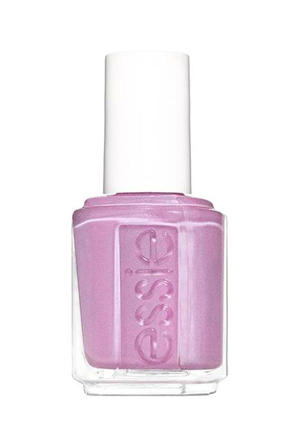 """<p><strong>Essie</strong></p><p>essie.com</p><p><strong>$4.30</strong></p><p><a href=""""https://www.essie.com/nail-polish/enamel/purples/spring-in-your-step"""" rel=""""nofollow noopener"""" target=""""_blank"""" data-ylk=""""slk:SHOP NOW"""" class=""""link rapid-noclick-resp"""">SHOP NOW</a></p><p>Metallic, shimmery shades are so in for spring, and this gorgeous iridescent lilac color is the perfect combo of trendy and traditional.<br></p>"""