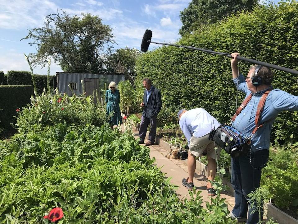 Filming with the duchess in Longmeadow (BBC/PA)