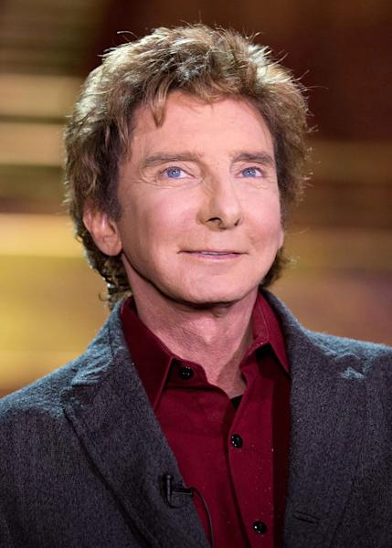 "Barry Manilow appears at a press preview for his show ""Manilow on Broadway,"" at the St. James Theatre on Tuesday, Jan. 22, 2013 in New York. (Photo by Dario Cantatore/Invision/AP)"