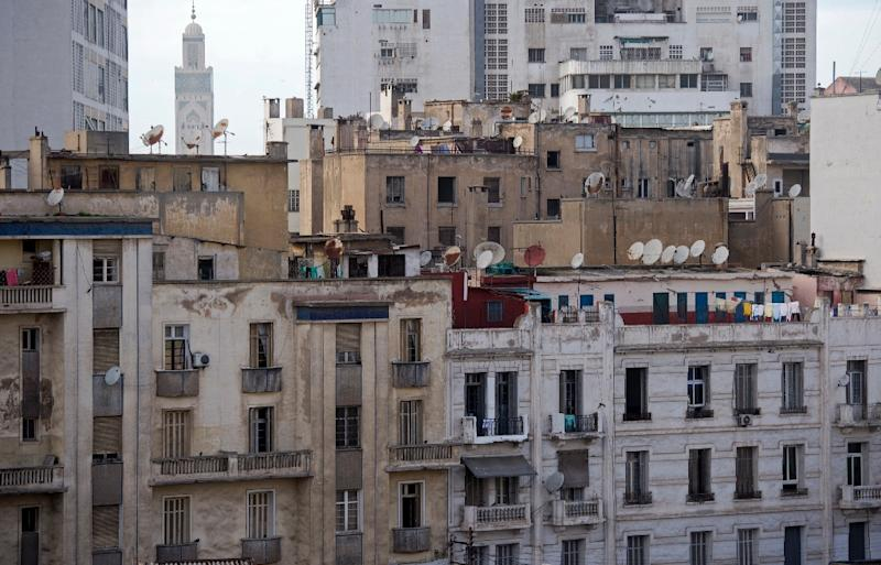 Rooftop shanties top once iconic casablanca buildings