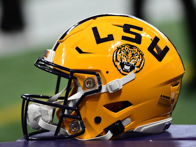 LSU plays Oklahoma in the Peach Bowl on Saturday. (Photo by Jeffrey Vest/Icon Sportswire via Getty Images)