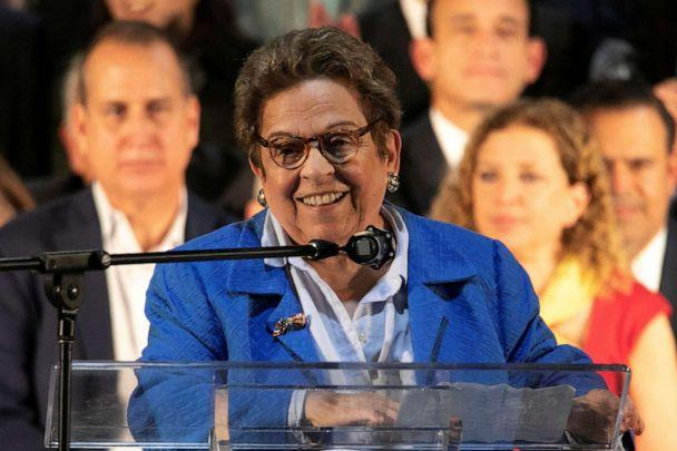PHOTO: Rep. Donna Shalala speaks during a rally with Venezuelans living in Miami, Feb. 1, 2020. (Eva Uzcategui/Reuters, FILE)