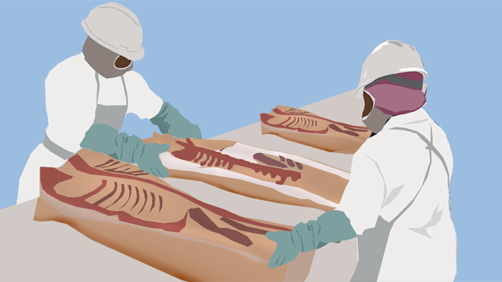 Illustration of two workers