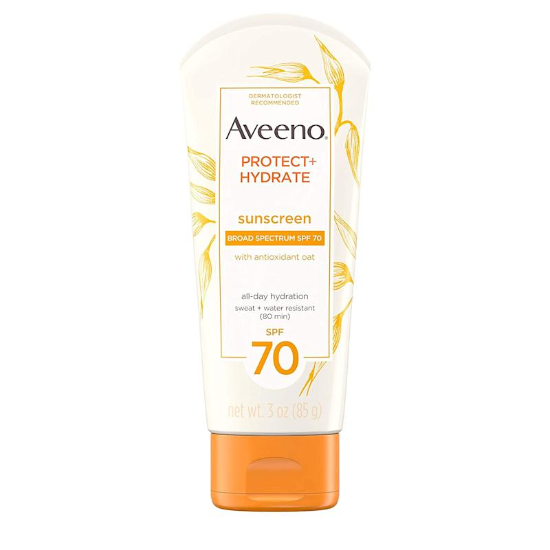 Aveeno Protect + Hydrate Sunscreen SPF 70 (Photo: Amazon)