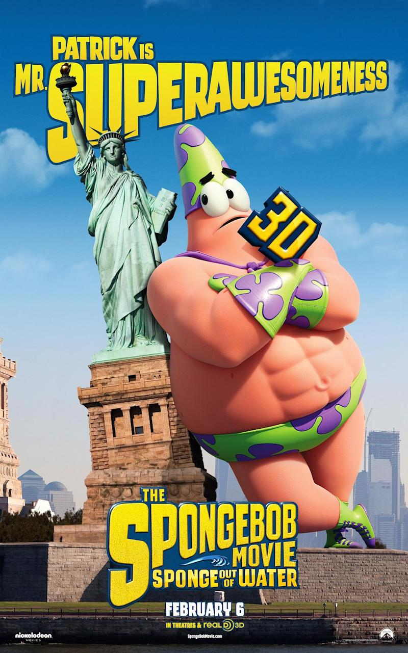 last of the new character posters for the spongebob movie sponge