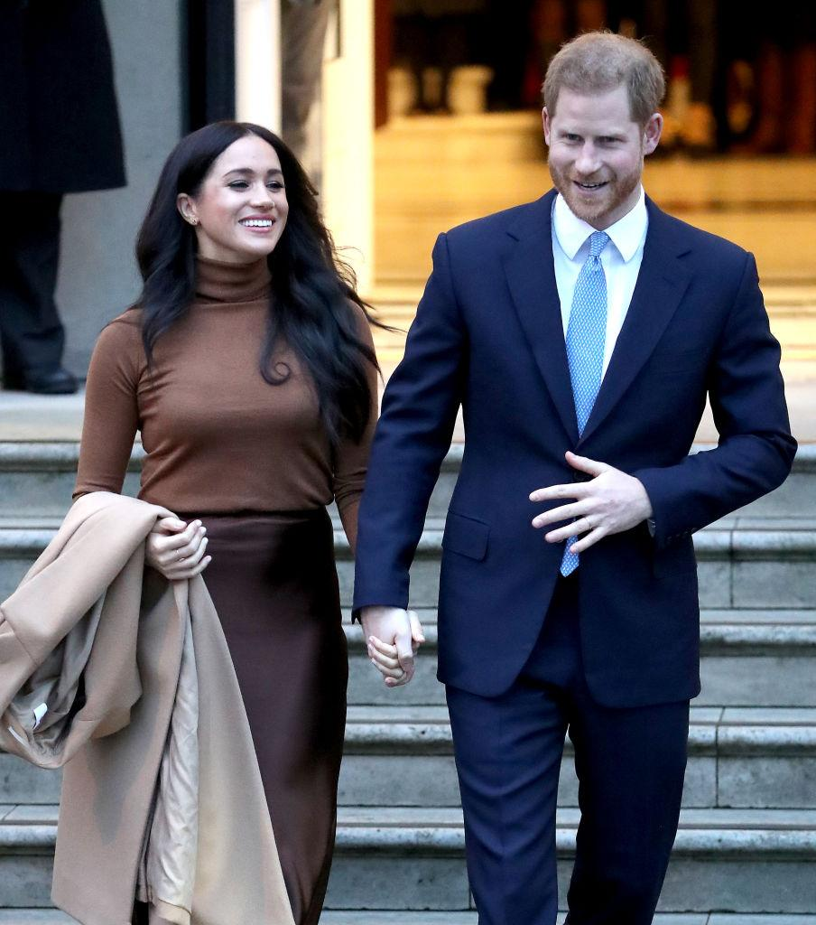 Harry and Meghan announced the were stepping back as senior royals on 8th January [Photo: Getty]