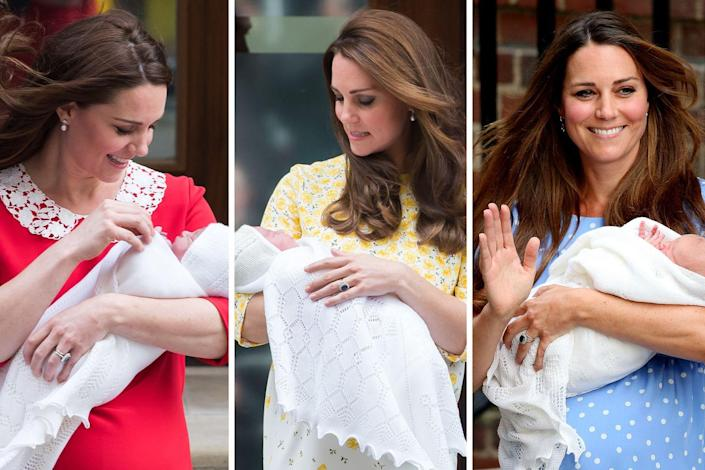"""<p>Prince George, Princess Charlotte, and Prince Louis were all carried out of the Lindo Wing—and introduced to the press—in the same white knit blanket from GH Hurt & Son Ltd. <a href=""""https://www.townandcountrymag.com/society/tradition/a25934520/meghan-markle-prince-harry-royal-baby-born-outfit-swaddle-blanket/"""" rel=""""nofollow noopener"""" target=""""_blank"""" data-ylk=""""slk:The brand has become the royals' go-to for baby blankets"""" class=""""link rapid-noclick-resp"""">The brand has become the royals' go-to for baby blankets</a>, ever since the Queen wrapped Prince Charles in one back in 1948.<br></p>"""