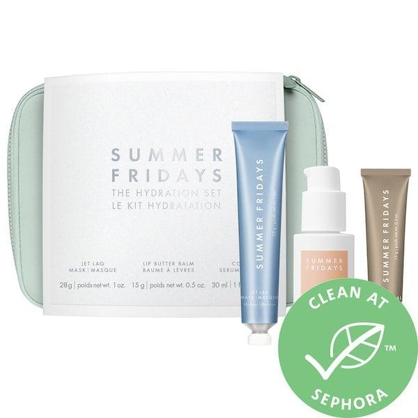 <p>Winter is coming but the <span>Summer Fridays The Hydration Set</span> ($75) slips three moisturizing treats into a stocking so your loved one's skin is sorted.</p>