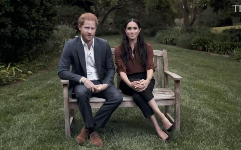 The Duke and Duchess of Sussex appear in a video for Time100 - Time 100