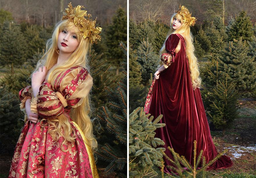 """<p>Eighteen year-old <a href=""""http://angelaclayton.crevado.com/"""">Angela Clayton</a> developed an interest in sewing three years ago when she was introduced to cosplay.</p>"""