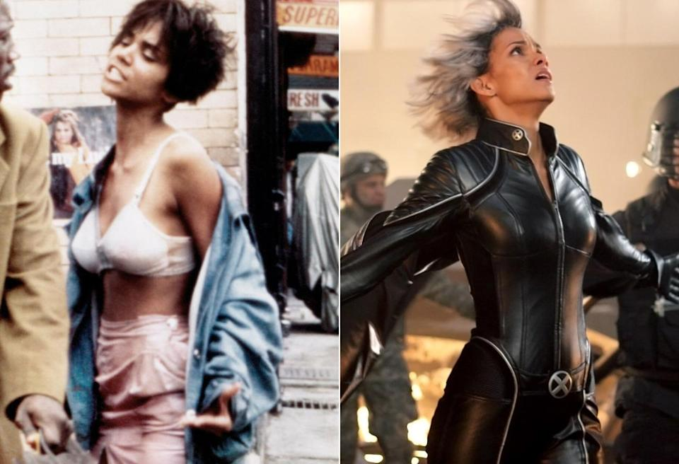 <p>Before she played the weather-manipulating mutant in <i>X-Men</i>, Berry experienced some stormy times playing Samuel L. Jackson's crack-addicted girlfriend in Spike Lee's 1991 drama. <i>(Photo: Everett)</i></p>