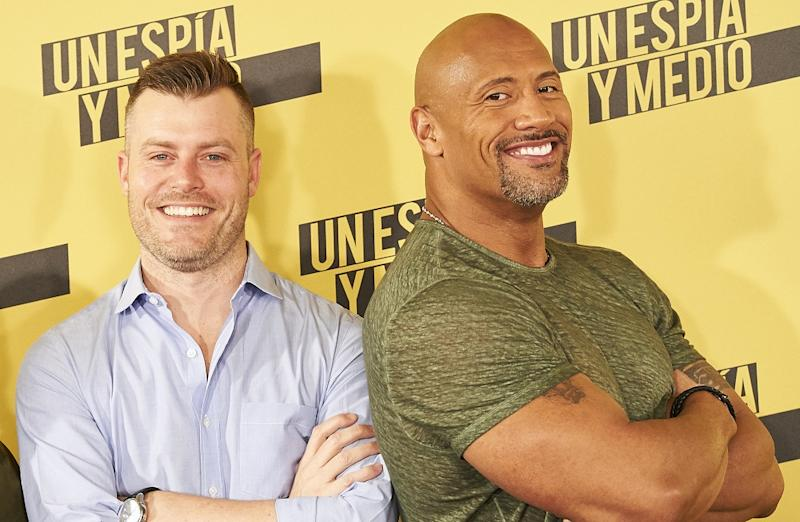 Johnson with writer-director Rawson Marshall Thurber; the duo previously collaborated on 2016's 'Central Intelligence' (Picture credit: Sean Thorton/WENN.com)