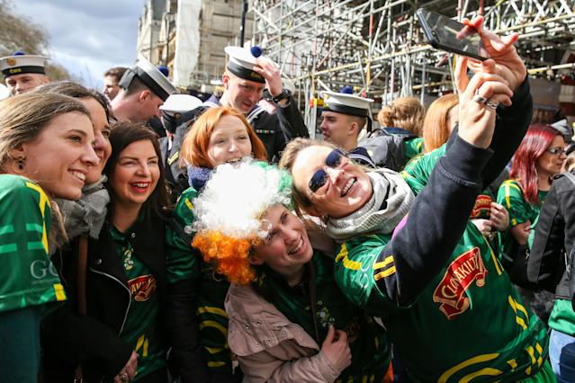 London's St Patricks Day Parade, held last year. (Photo by Dinendra Haria / SOPA Images/Sipa USA)