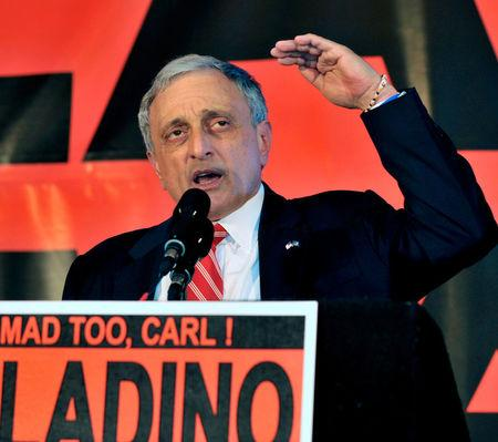 FILE PHOTO -- Republican gubernatorial candidate Carl Paladino concedes to a crowd in Buffalo