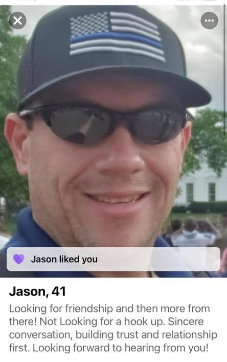 Dating profile in Texan police Chiefe Jason Collier cheating drama