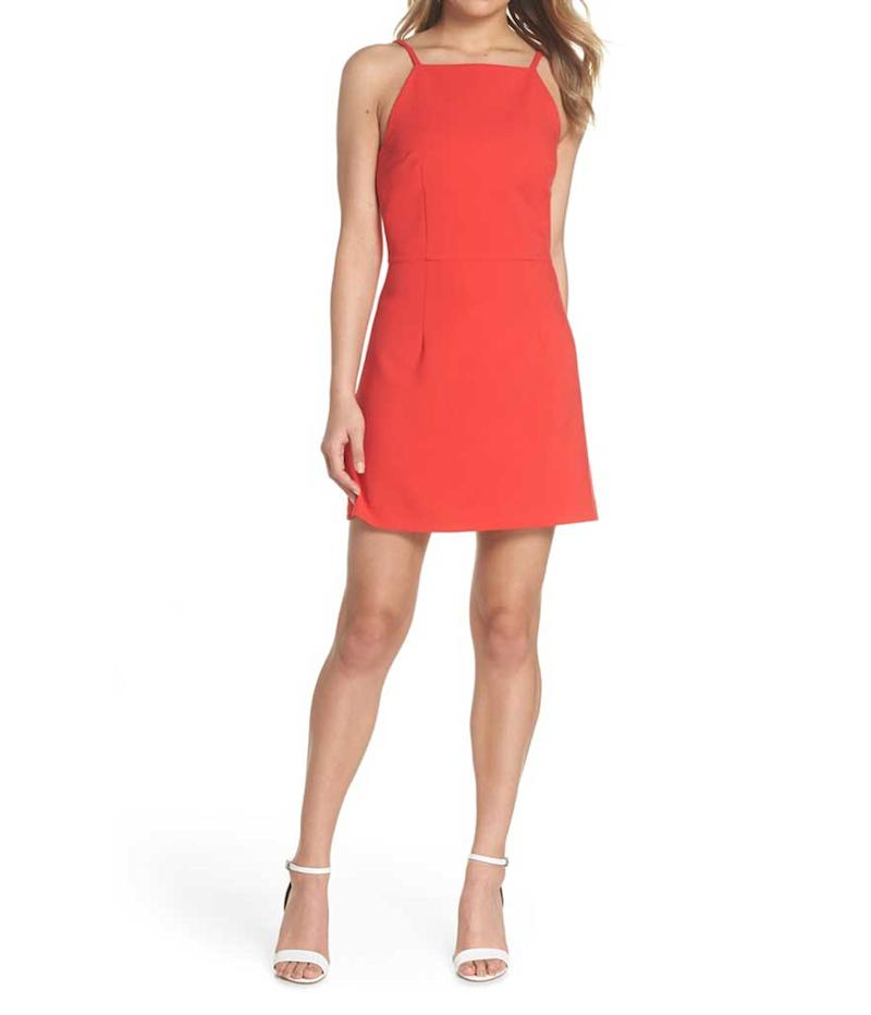 Red sheath dress. (Photo: French Connection/Nordstrom)