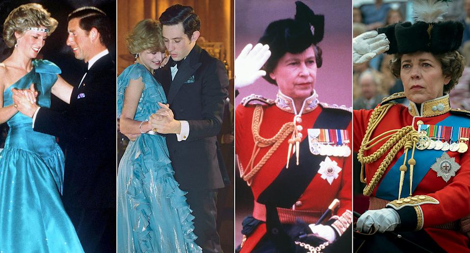 How the stars of The Crown compare to the real-life royals they portray.
