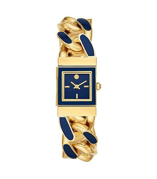 """<p><strong>Tory Burch</strong></p><p>toryburch.com</p><p><strong>$395.00</strong></p><p><a href=""""https://go.redirectingat.com?id=74968X1596630&url=https%3A%2F%2Fwww.toryburch.com%2Ftilda-watch-gold-tone-stainless-steel-blue-21-mm%2FTBW3030.html&sref=https%3A%2F%2Fwww.redbookmag.com%2Ffashion%2Fg34824874%2Fbest-jewelry-gift-ideas%2F"""" rel=""""nofollow noopener"""" target=""""_blank"""" data-ylk=""""slk:Shop Now"""" class=""""link rapid-noclick-resp"""">Shop Now</a></p><p>A polished bracelet watch is a great addition to any jewelry lover's box. </p>"""