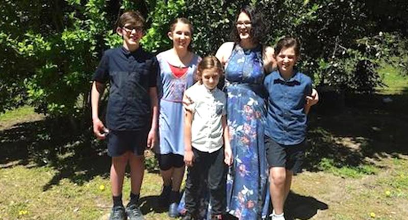Katrina Miles and her four children - daughter Taye, 13, and sons Rylan, 12, Arye, 10, and Kadyn, eight - were killed on an Osmington farm near Margaret River. Source: 7 News