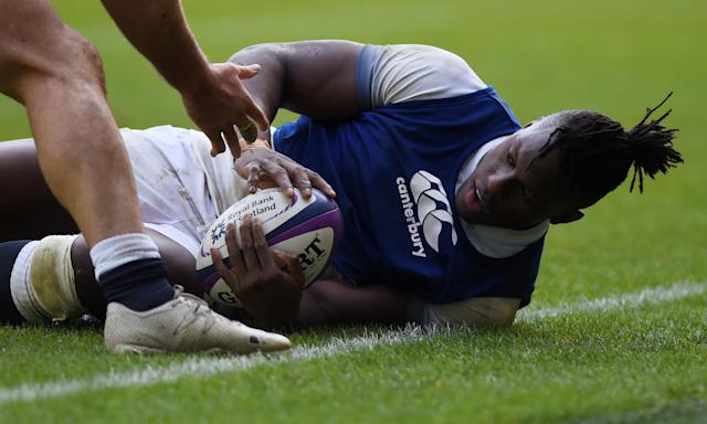 Rugby Union - England Training - Twickenham Stadium, London, Britain - February 16, 2018 England's Maro Itoje during training Action Images via Reuters/Adam Holt