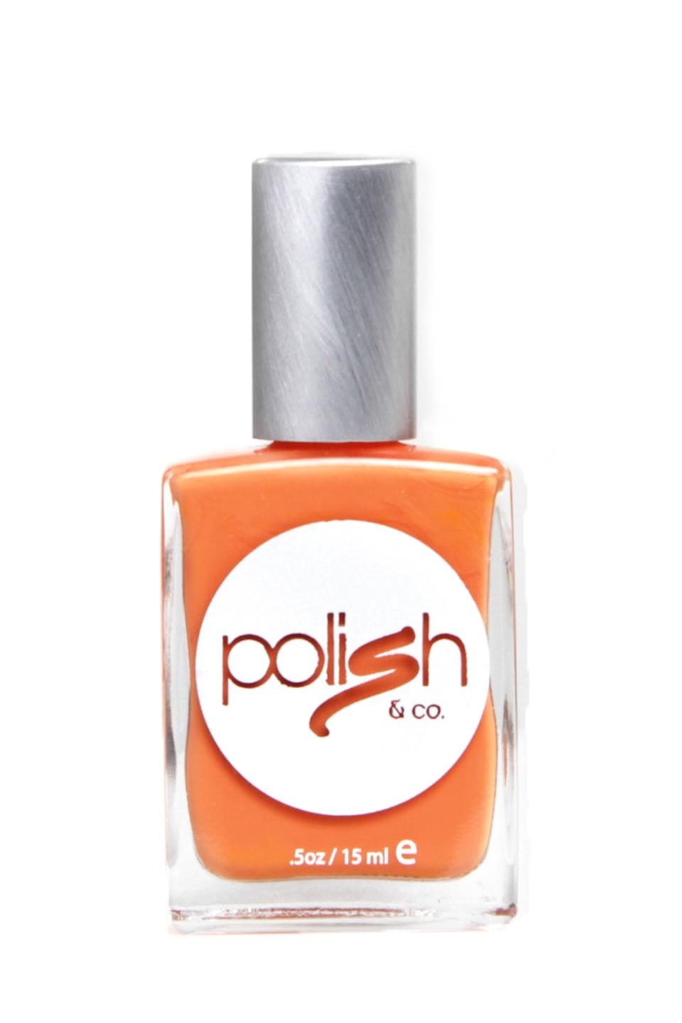 """<h3>Polish & Co Dreamsicle</h3><br>Creamsicle might sound too summer-y, but this polish actually has a hint of a warm-red undertone that gives it a foliage vibe.<br><br><strong>Polish & Co</strong> Dreamsicle, $, available at <a href=""""https://go.skimresources.com/?id=30283X879131&url=https%3A%2F%2Fpolishandco.com%2Fdreamsicle%2F"""" rel=""""nofollow noopener"""" target=""""_blank"""" data-ylk=""""slk:Polish & Co"""" class=""""link rapid-noclick-resp"""">Polish & Co</a>"""