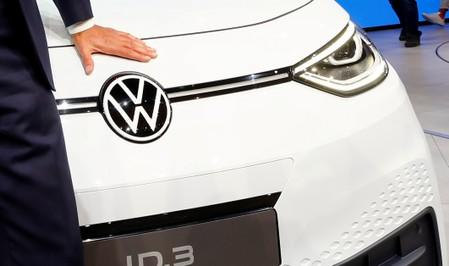 FILE PHOTO: Presentation of Volkswagen's electric ID.3 pre-production prototype car on the eve of the International Frankfurt Motor Show IAA in Frankfurt