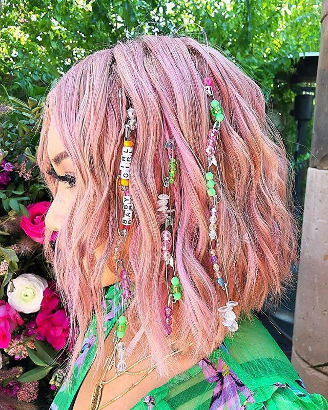 """<p>This is the perfect look for any music festival. While Justine Marjan used safety pin chains, you could also use ribbons or wraps to create even more drama.</p><p><a href=""""https://www.instagram.com/p/BwLfiXSHgL9/"""" rel=""""nofollow noopener"""" target=""""_blank"""" data-ylk=""""slk:See the original post on Instagram"""" class=""""link rapid-noclick-resp"""">See the original post on Instagram</a></p>"""