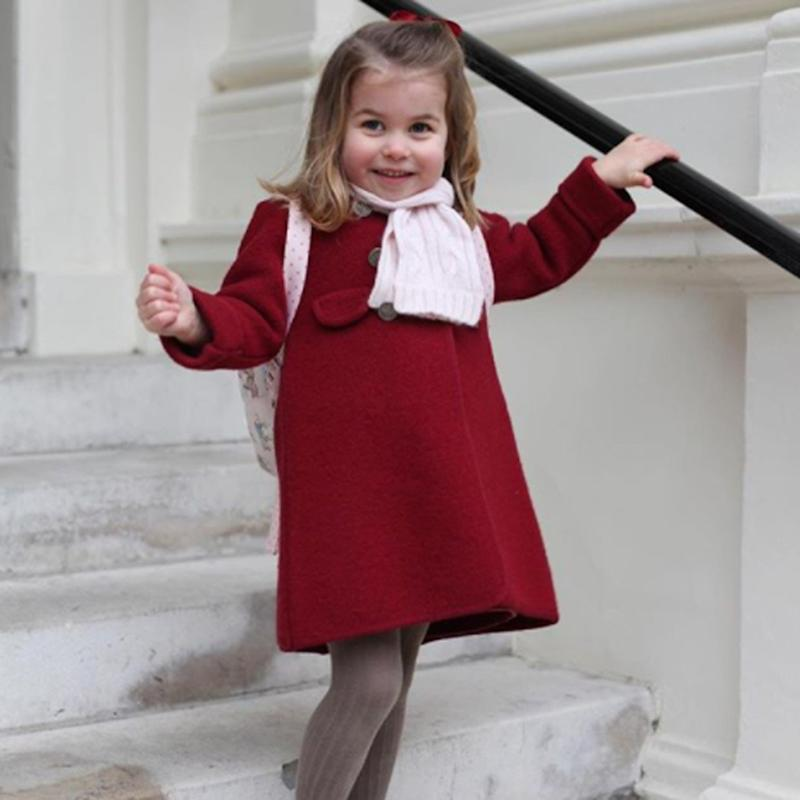 Princess Charlotte Is a Total Ham as She Attends Her First Day of Nursery School