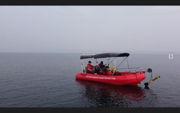The Hutterian Emergency Aquatic Response Team is pictured in a file photo. The non-profit found the remains of a missing Alberta man in a British Columbia lake on Friday. (Hutterian Emergency Aquatic Response Team/Facebook - image credit)
