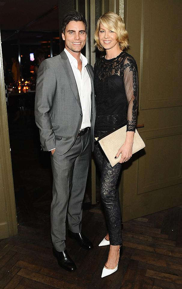 WEST HOLLYWOOD, CA - JANUARY 24: Actors Colin Egglesfield and Jenna Elfman attend the ELLE's Women in Television Celebration at Soho House on January 24, 2013 in West Hollywood, California.  (Photo by Stefanie Keenan/Getty Images for ELLE)