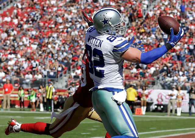 With Jason Witten retired, the Dallas Cowboys look to tight ends Geoff Swaim, Blake Jarwin and Rico Gathers to replace Witten's production. (AP)