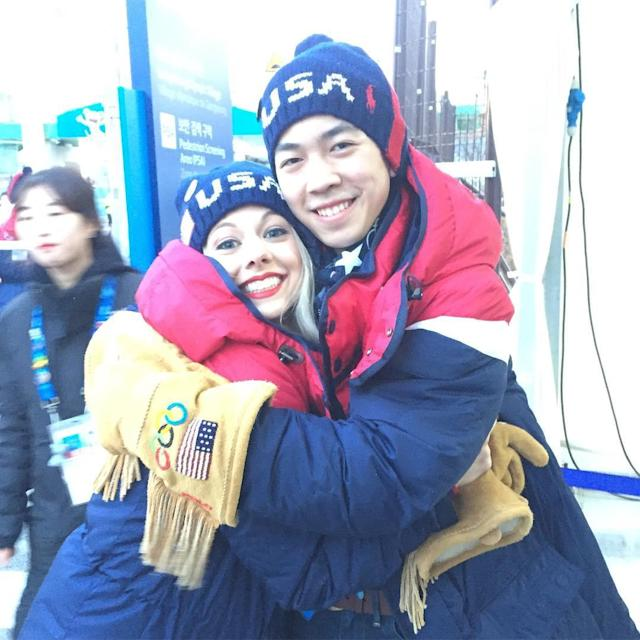 <p>alexa_knierim: You guys know I'm a fan of @govincentzhou! All the feels!!!!! I was screaming so loud for you! #besties #proudmom (Photo via Instagram/alexa_knierim) </p>