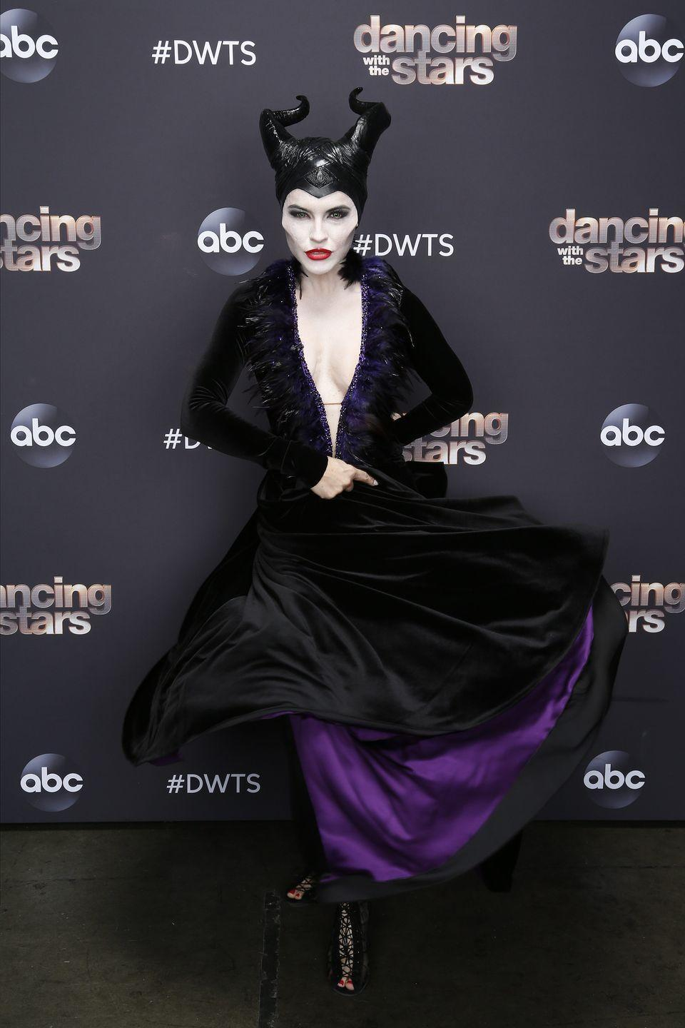 <p>As Maleficent on <em>Dancing With the Stars</em>.</p>