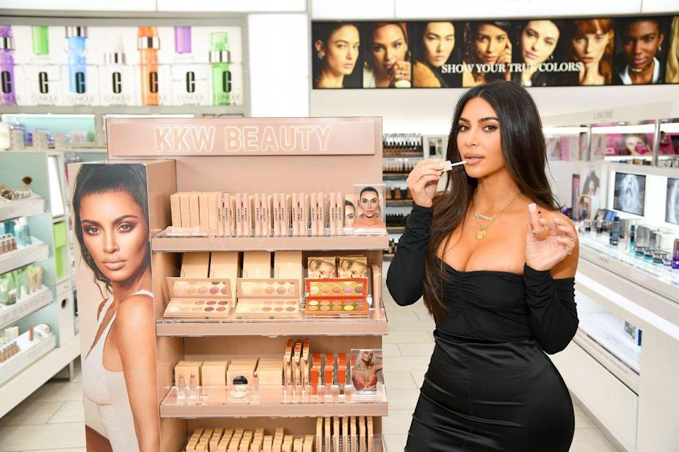 "<p>In 2017, Kim made the long-awaited venture into beauty releasing her line <a href=""https://www.elle.com/uk/beauty/make-up/a19869567/kim-kardashian-has-revealed-her-next-kkw-make-up-collab/"" rel=""nofollow noopener"" target=""_blank"" data-ylk=""slk:KKW Beauty"" class=""link rapid-noclick-resp"">KKW Beauty</a> , which features products very much associated with Kim - like contour kits and lipstick ranges. In 2020, the brand was valued at $1 billion in a deal with cosmetics company Coty.</p>"
