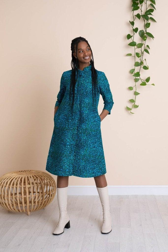 <p>From its clothes to its home goods, all of Mayamiko's designs are ethically created in Malawi, Africa. Another fun fact? The company uses traditional African techniques when making its items. </p> <p><strong>What We'd Buy</strong>: <span>Mayamiko Yamikani 3/4 Sleeve Shirt Dress in Blue Foliage</span> ($150)</p>