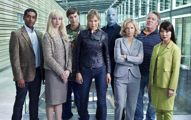 """This undated handout picture released by SVT shows actors of the Swedish series """"Real Humans"""" at an unknown location (AFP Photo/Johan Paulin)"""