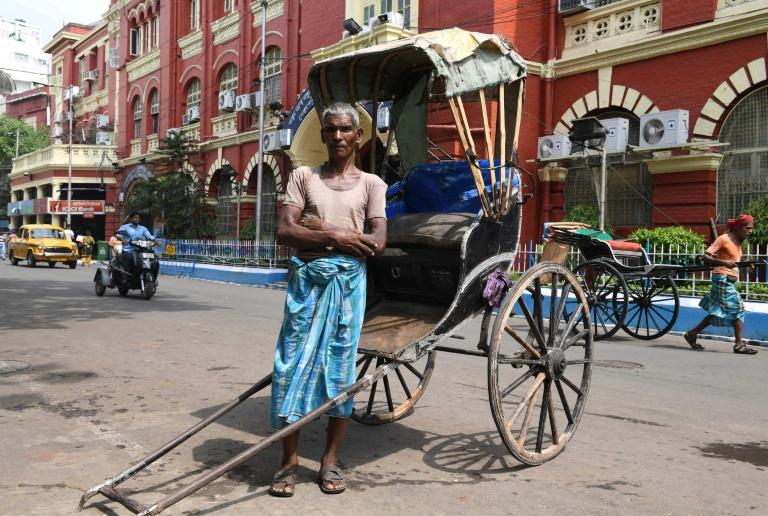 Mohammad Ashgar, 65, an Indian rickshaw puller, in Kolkata