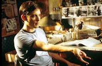 Tobey Maguire as Peter Parker in 'Spider-Man' (2002) Real age at the time: 27 - Character age: 17