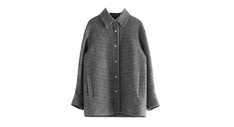 Oversized Recycled Wool Shirt Jacket