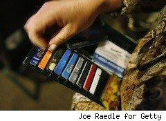 a wallet full of credit card choices - reward credit cards
