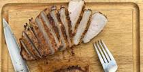 """<p>As you may know if you've made pork chops before, they usually require a lot of oil — and a lot of cleanup. However, you can cook them just as tender and juicy in you air fryer.</p><p><em><a href=""""https://www.countryliving.com/food-drinks/a33797178/air-fryer-pork-chops-recipe/"""" rel=""""nofollow noopener"""" target=""""_blank"""" data-ylk=""""slk:Get the recipe from Country Living >>"""" class=""""link rapid-noclick-resp"""">Get the recipe from Country Living >></a></em></p>"""