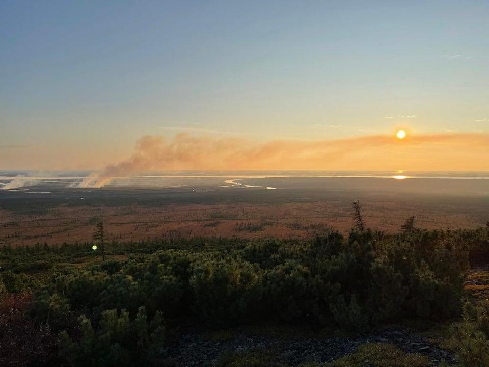 Wildfires used to be extremely rare in Chersky, yet this is the second in two years (Valentina Morriconi)
