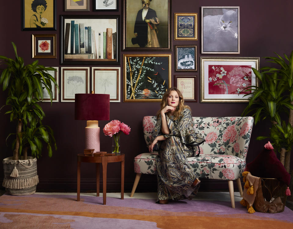 Drew Barrymore launches Flower Home Collection at Walmart (Photo: Walmart)