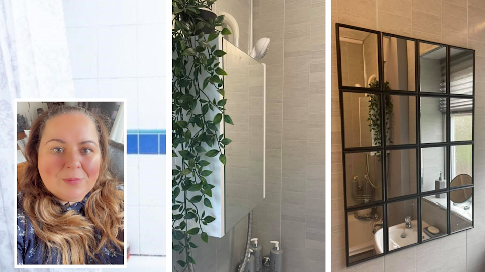 A woman was inspired to recreate a mirror hack she'd seen on Stacey Solomon's Instagram. (Latestdeals.co.uk)