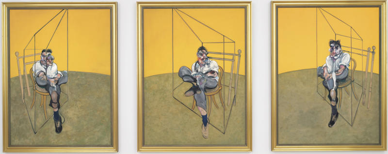 "This undated photo provided by Christie's shows ""Three Studies of Lucian Freud,"" a triptych by Francis Bacon of his friend and artist Lucian Freud. The 1969 painting by Bacon set a world record for the most expensive artwork ever sold at auction when it sold Tuesday evening Nov. 12, 2013 for $142.4 million. (AP Photo/Christie's)"